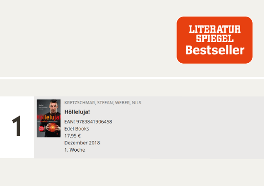 Hölleluja! auf Platz 1 der Spiegel-Bestsellerliste Sachbuch