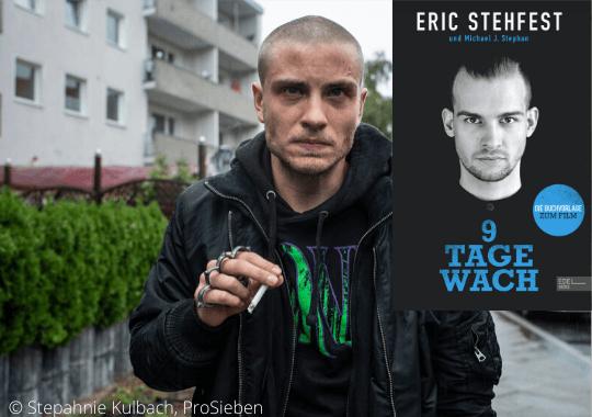 Buchcover von 9 Tage wach, ein Bild von Jannik Schümann als Eric Stehfest