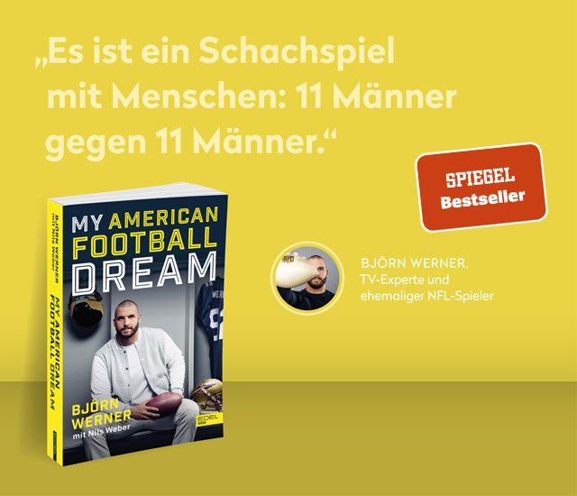 Bestsellerbanner Björn Werner für My American Football Dream
